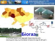 Звалищний газ Біогаз Утилізація органічних відходів тваринництва або звалищно...