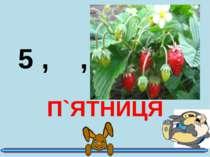5 , ,, П`ЯТНИЦЯ