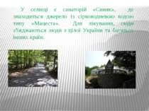 У селищі є санаторій «Синяк», де знаходиться джерело із сірководневою водою т...