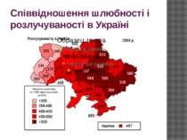 Співвідношення шлюбності і розлучуваності в Україні