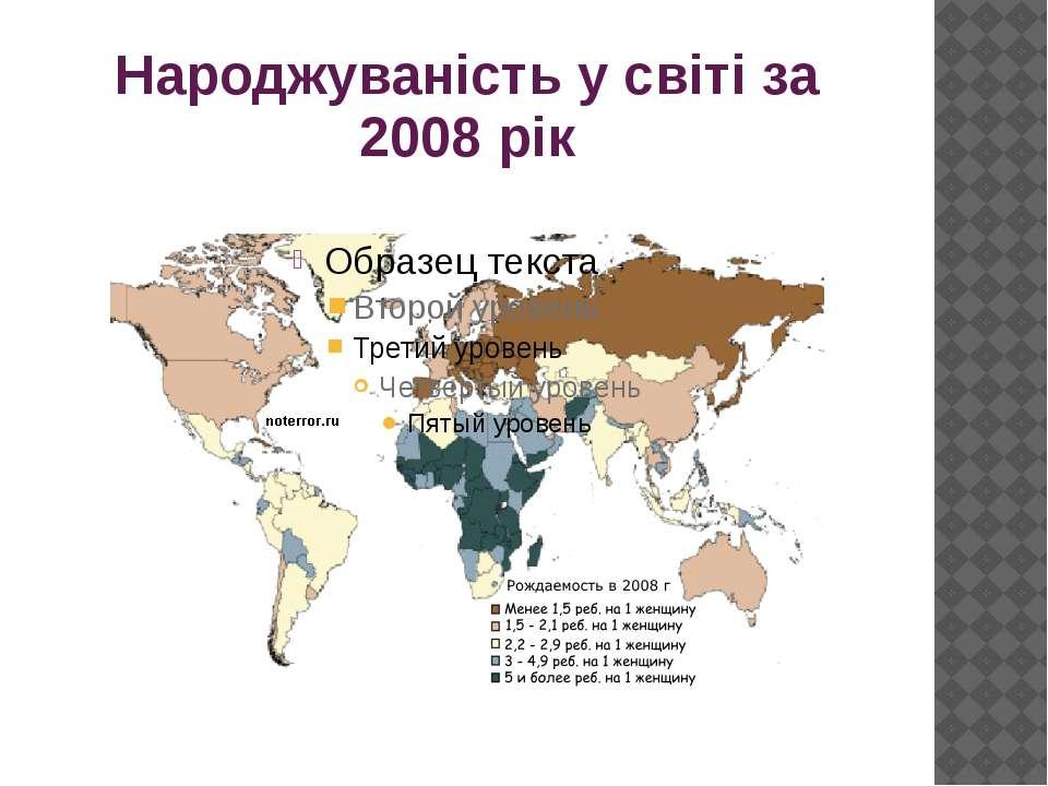 Народжуваність у світі за 2008 рік