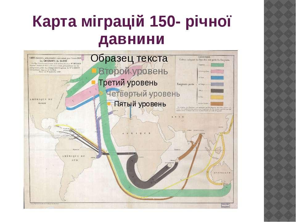 Карта міграцій 150- річної давнини