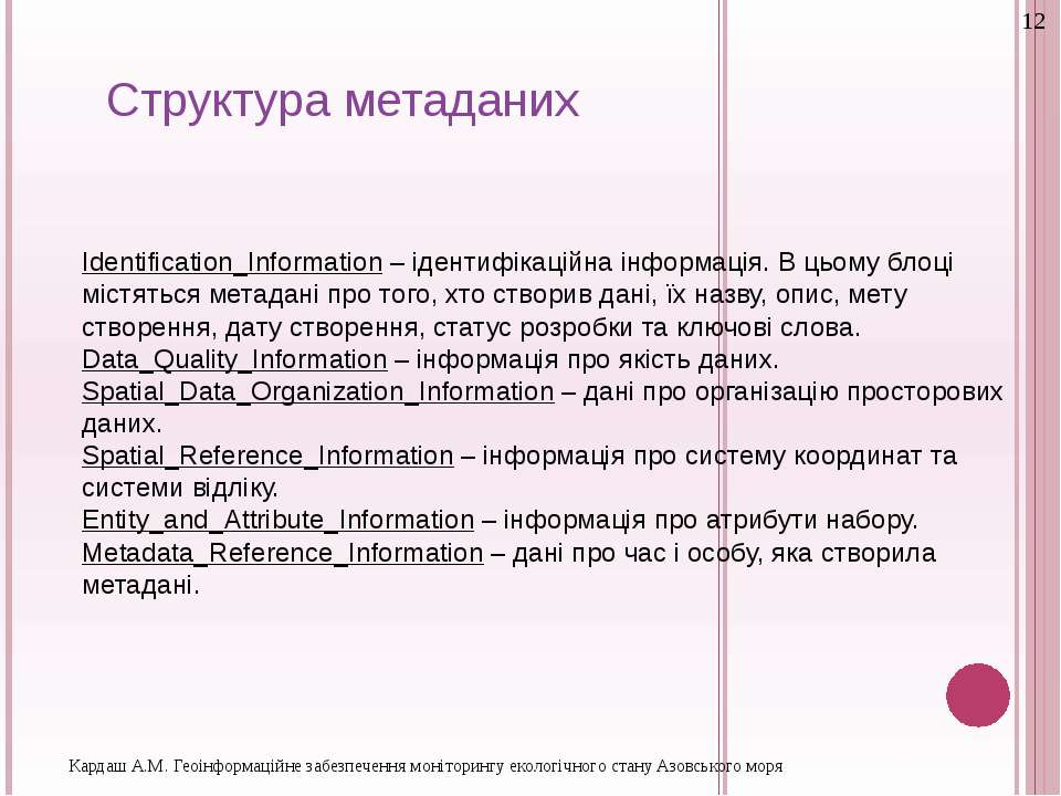 Identification_Information – ідентифікаційна інформація. В цьому блоці містят...