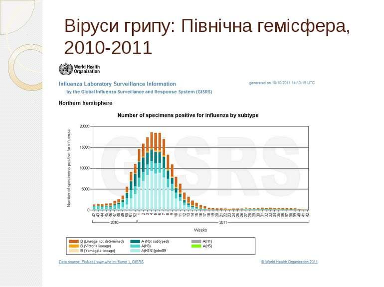 Віруси грипу: Північна гемісфера, 2010-2011