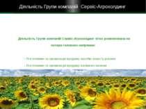 Діяльність Групи компаній Сервіс-Агрохолдинг чітко розмежована на чотири голо...