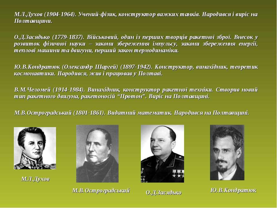 М.Л.Духов (1904-1964). Учений-фізик, конструктор важких танків. Народився і в...