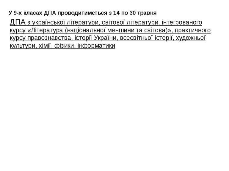 ДПА з української літератури, світової літератури, інтегрованого курсу «Літер...