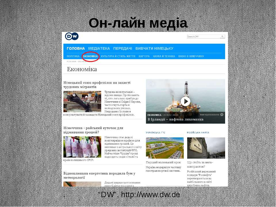 "Он-лайн медіа ""DW"", http://www.dw.de"