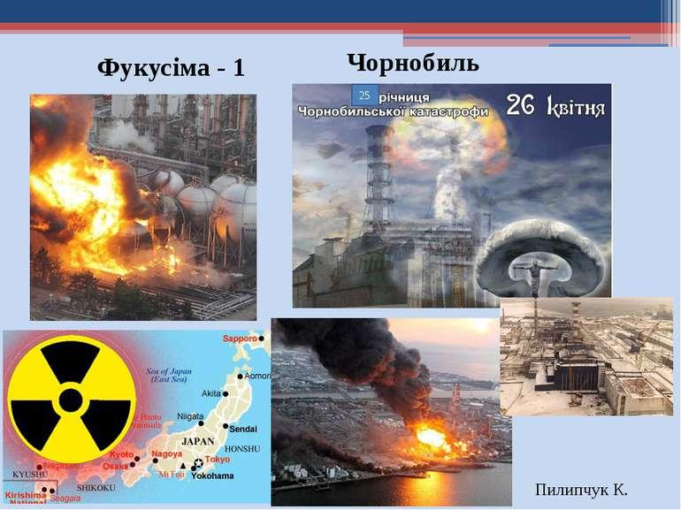 Фукусіма - 1 Пилипчук К. 25 Чорнобиль