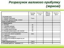 Розрахунок валового прибутку (зернові)