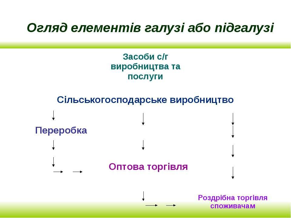 Огляд елементів галузі або підгалузі
