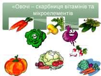 «Овочі – скарбниця вітамінів та мікроелементів Рябоконь О.А.