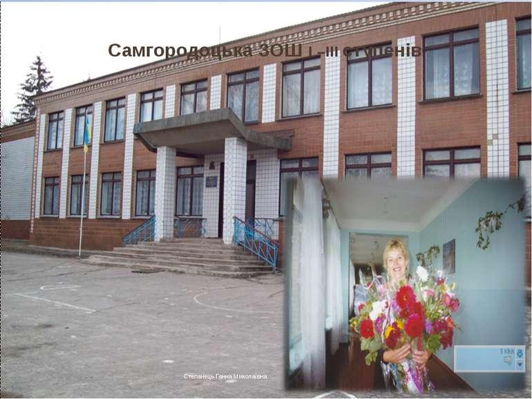 Самгородоцька ЗОШ І –ІІІ ступенів Степанець Ганна Миколаївна