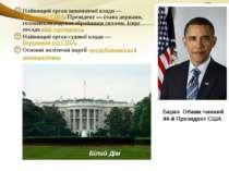 Найвищий орган виконавчої влади—президент США. Президент— глава держави, г...
