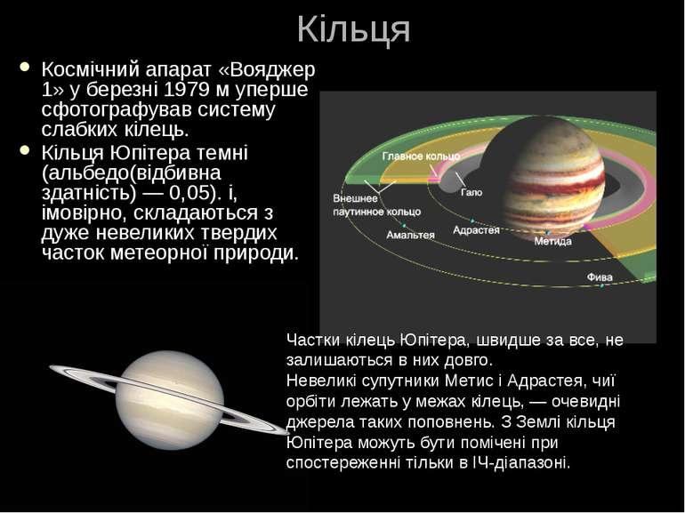 Кільця Космічний апарат «Вояджер 1» у березні 1979 м уперше сфотографував сис...