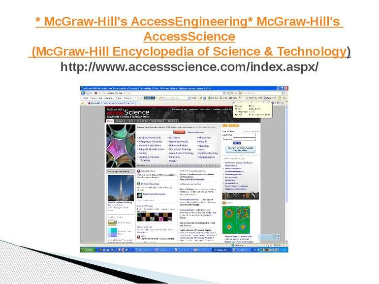 * McGraw-Hill's AccessEngineering * McGraw-Hill'sAccessScience (McGraw-Hill ...