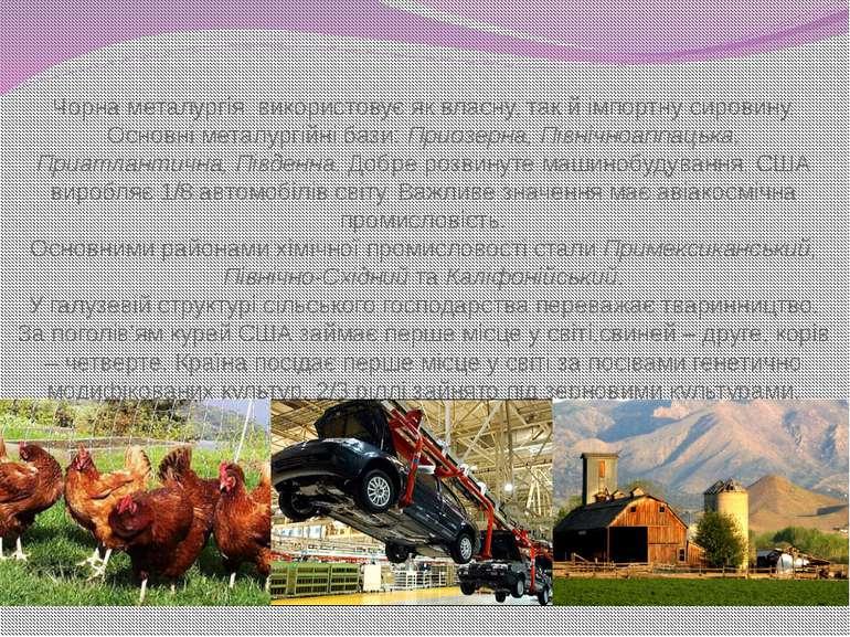 Чорна металургія використовує як власну, так й імпортну сировину. Основні мет...