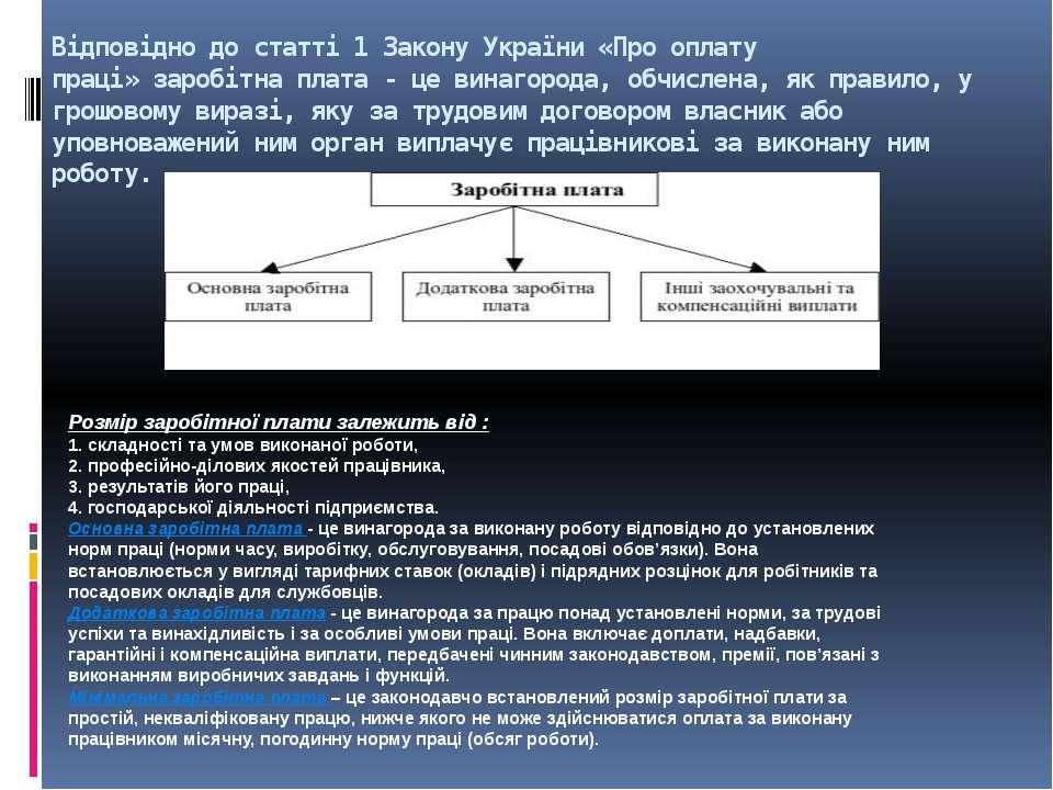 Відповідно до статті 1 Закону України «Про оплату праці»заробітна плата- це...