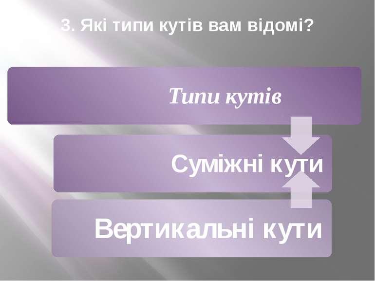 3. Які типи кутів вам відомі?