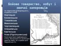 Бойове товариство, побут і звичаї запорожців За свідченням Д.Яворницького, іс...