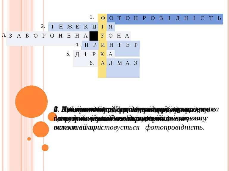 1. Вид провідності, що виникає при прикладенні напруги до освітленого напівпр...