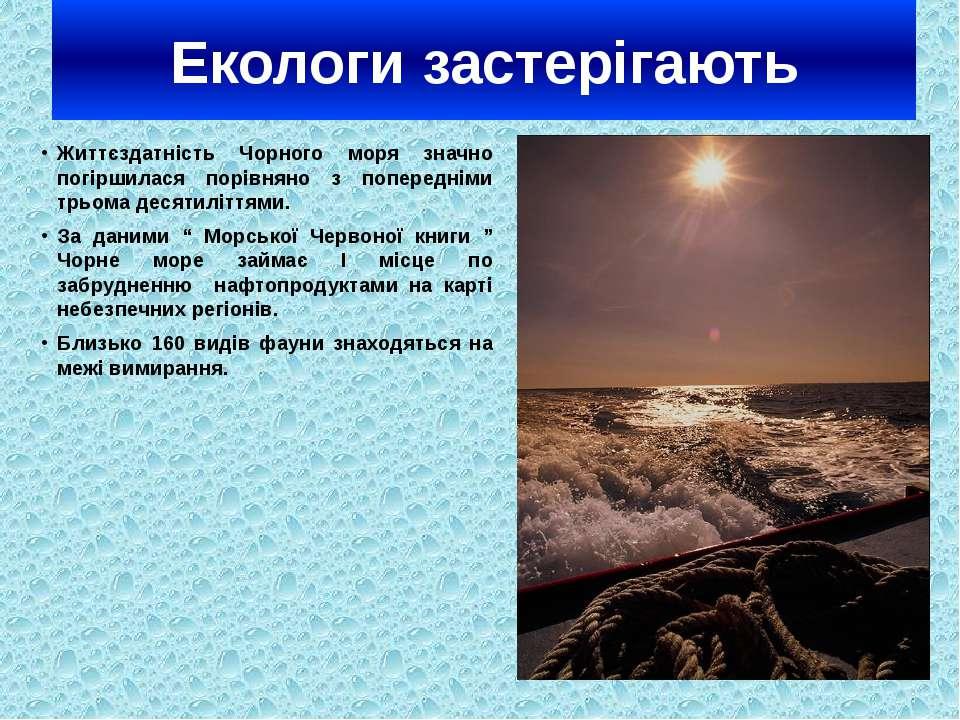 Екологи застерігають Життєздатність Чорного моря значно погіршилася порівняно...