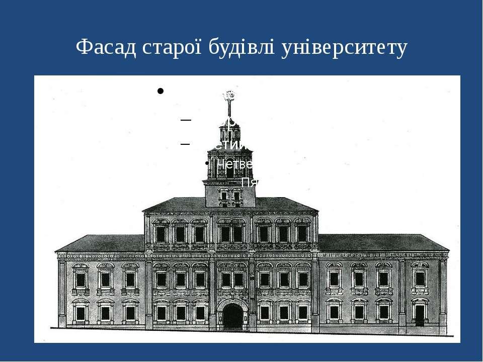Фасад старої будівлі університету