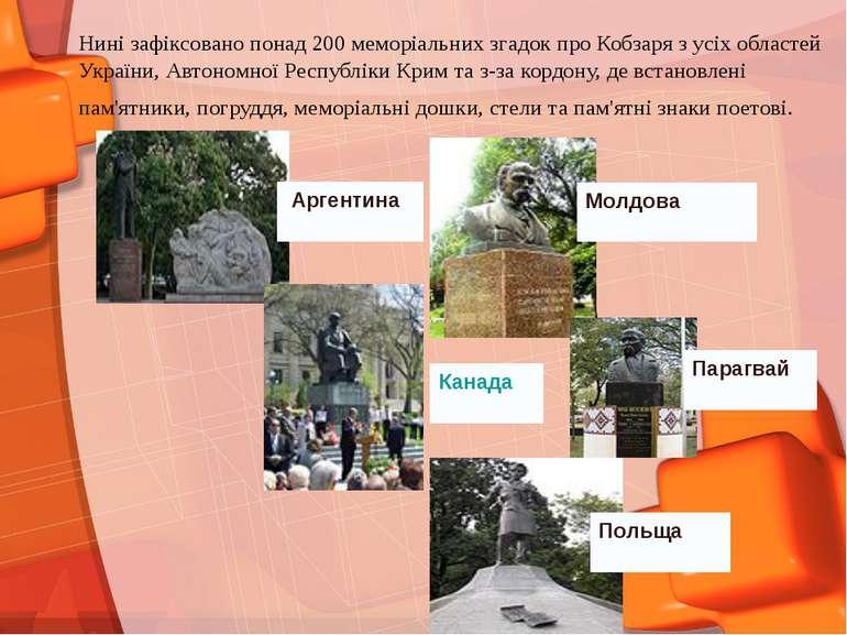Нині зафіксовано понад 200 меморіальних згадок про Кобзаря з усіх областей Ук...