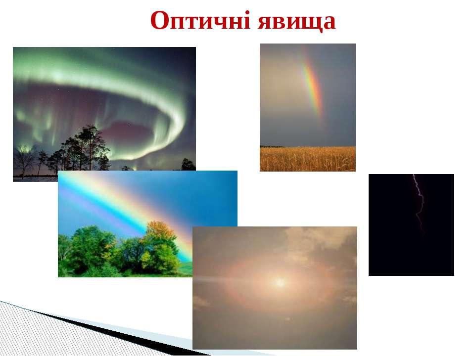 Оптичні явища