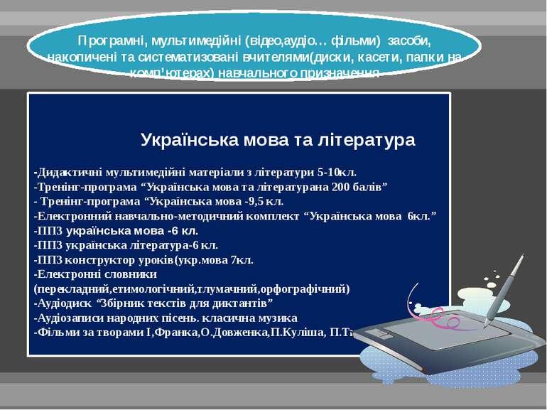 Українська мова та література -Дидактичні мультимедійні матеріали з літератур...
