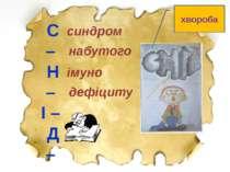 С – Н – І – Д – синдром набутого імуно дефіциту хвороба