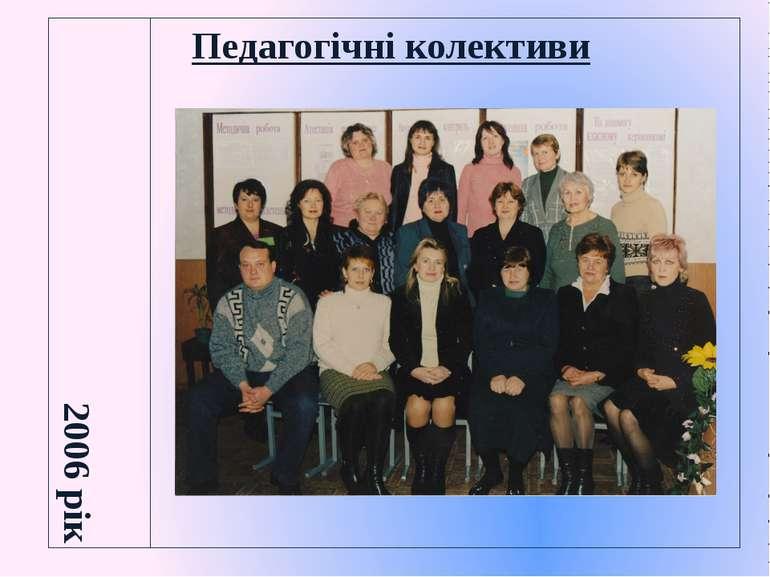 Педагогічні колективи 2006 рік