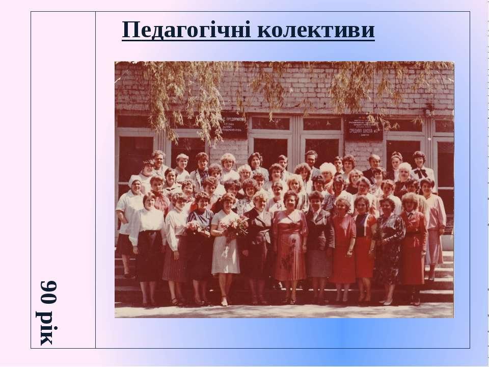 Педагогічні колективи 90 рік