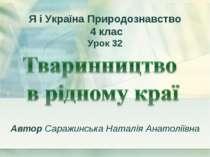 Автор Саражинська Наталія Анатоліївна Я і Україна Природознавство 4 клас Урок 32