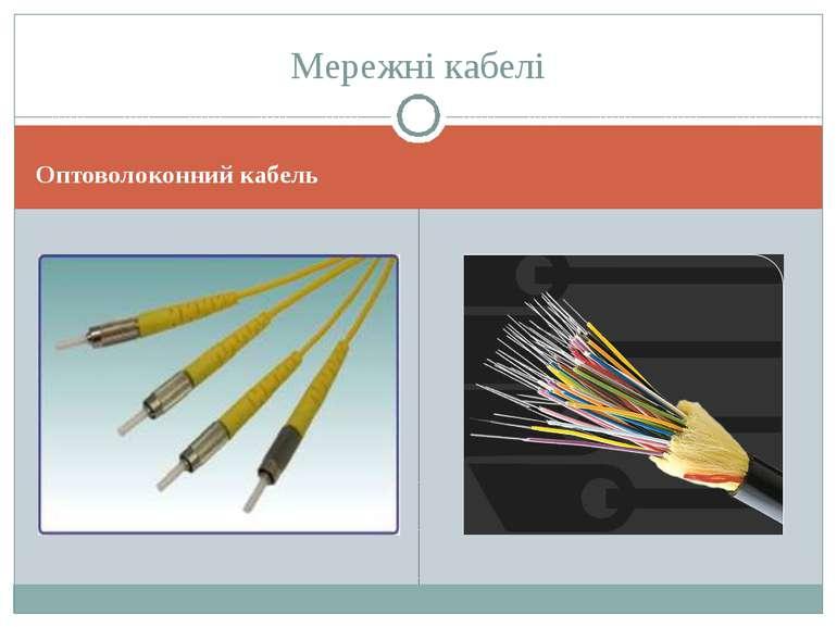 Оптоволоконний кабель Мережні кабелі