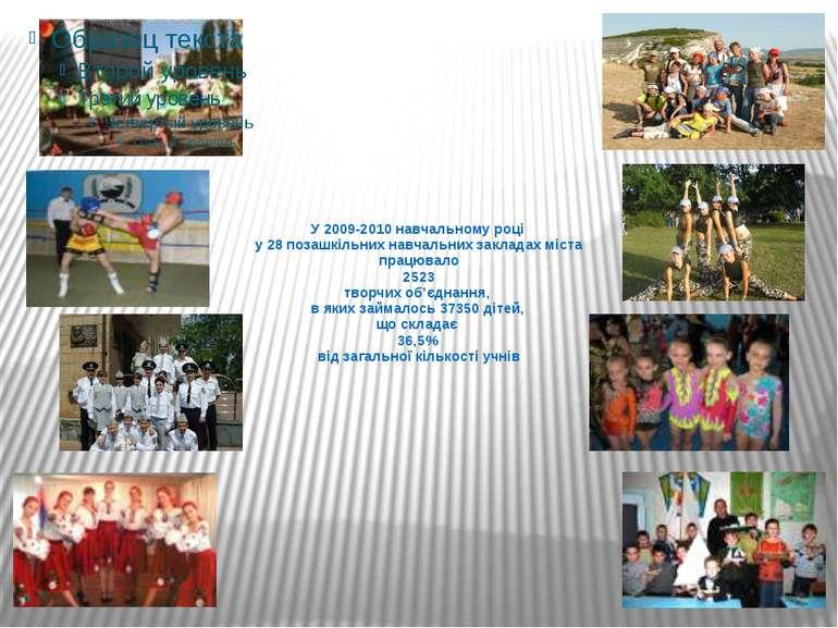 У 2009-2010 навчальному році у 28 позашкільних навчальних закладах міста прац...