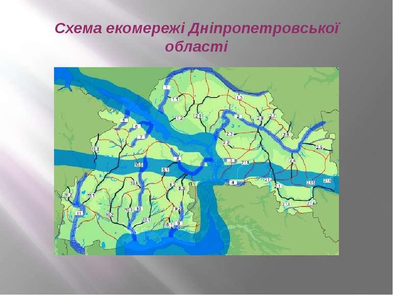 Схема екомережі Дніпропетровської області