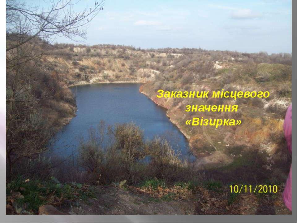 Заказник місцевого значення «Візирка»