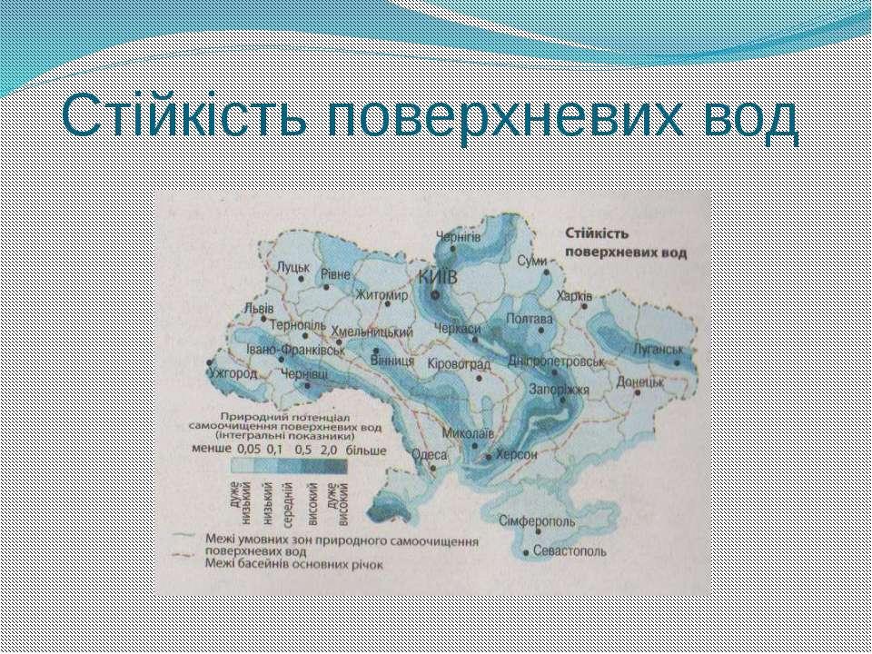Стійкість поверхневих вод Територія де протікає Дністер, Дніпро природний пот...