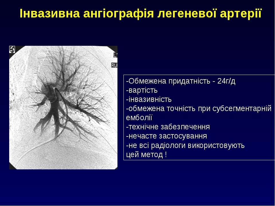 Інвазивна ангіографія легеневої артерії -Обмежена придатність - 24г/д -вартіс...