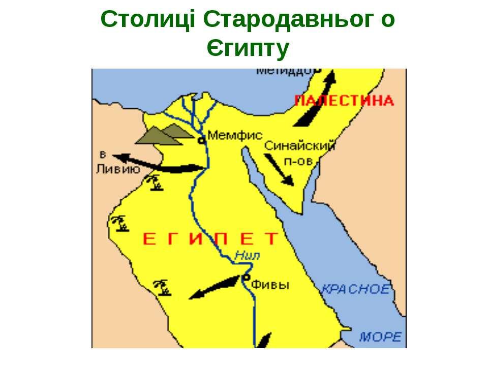 Столиці Стародавньог о Єгипту Карта Стародавнього Єгипту, 1500 р. До н. е.