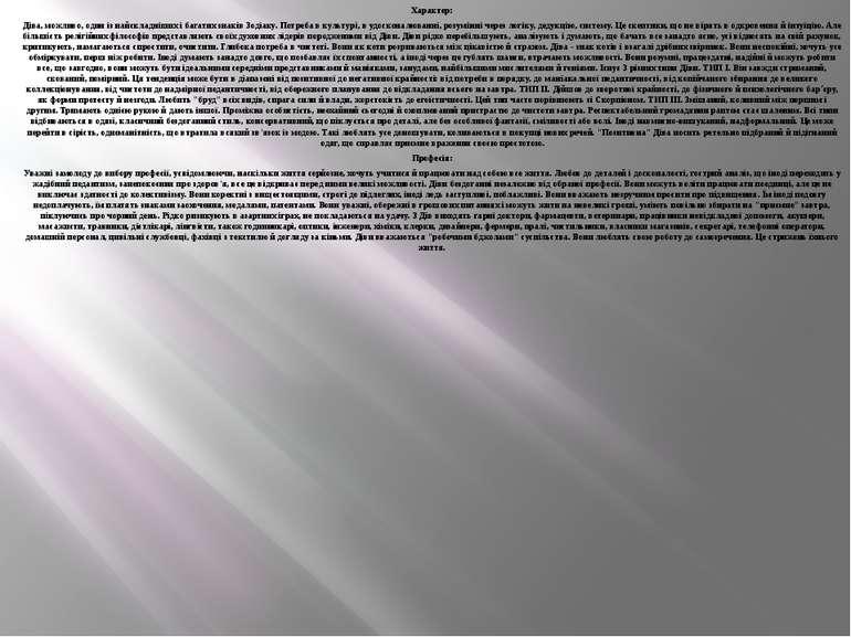 Характер: Діва, можливо, один із найскладніших і багатих знаків Зодіаку. Потр...
