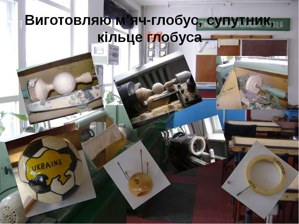 Виготовляю м'яч-глобус, супутник, кільце глобуса