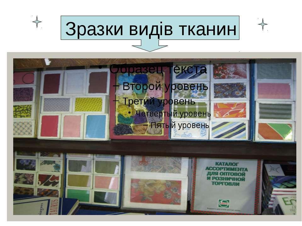 Зразки видів тканин
