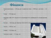 Фінанси Національний дохід — 129 млрд. дол.; на душу населення — 20 800 дол.;...