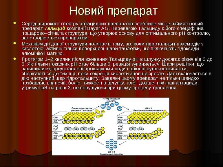 Новий препарат Серед широкого спектру антацидних препаратів особливе місце за...