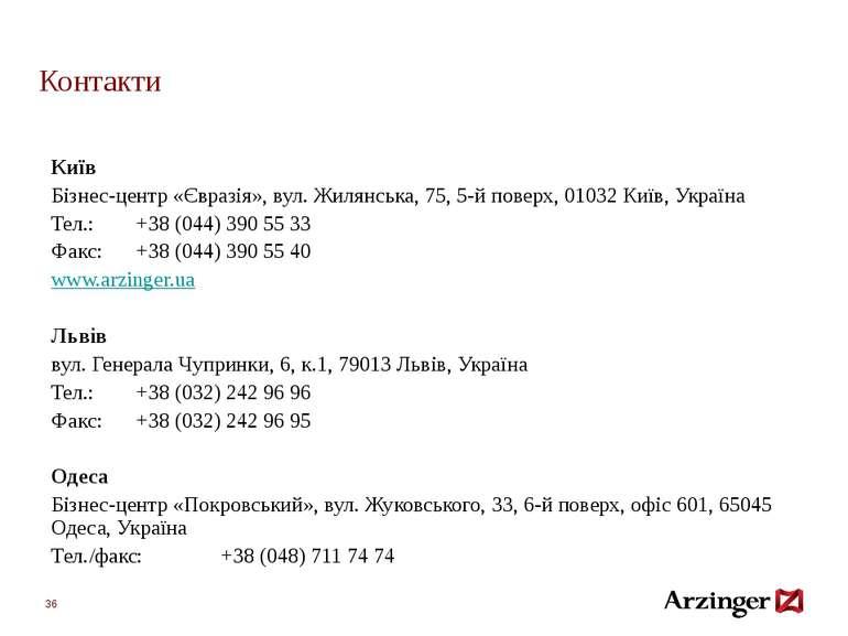 Контакти Київ Бізнес-центр«Євразія», вул. Жилянська, 75, 5-й поверх, 01032 К...