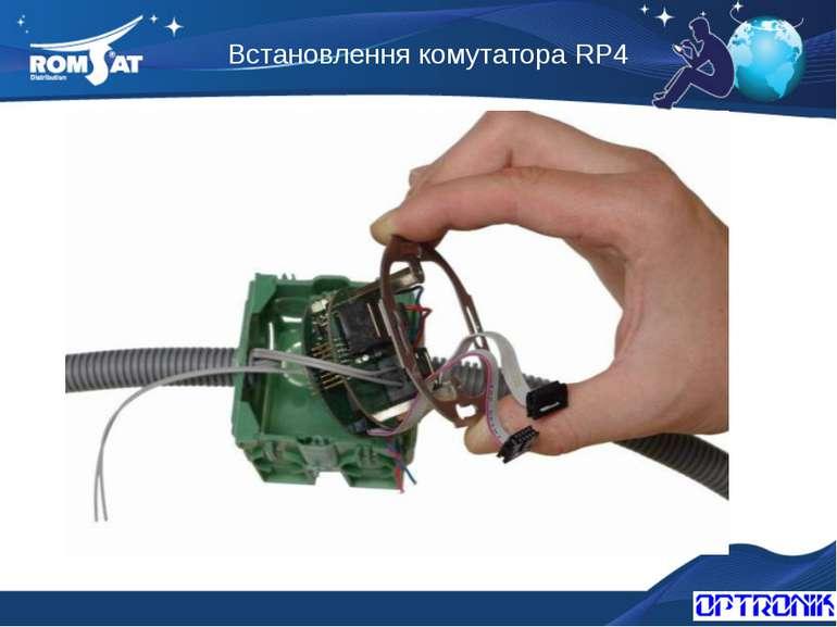 Встановлення комутатора RP4 Вэб: www.romsat.ua Почта: fiber@romsat.ua Тел: +3...