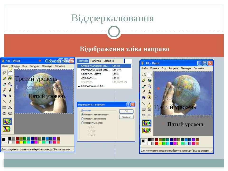 Відображення зліва направо Віддзеркалювання