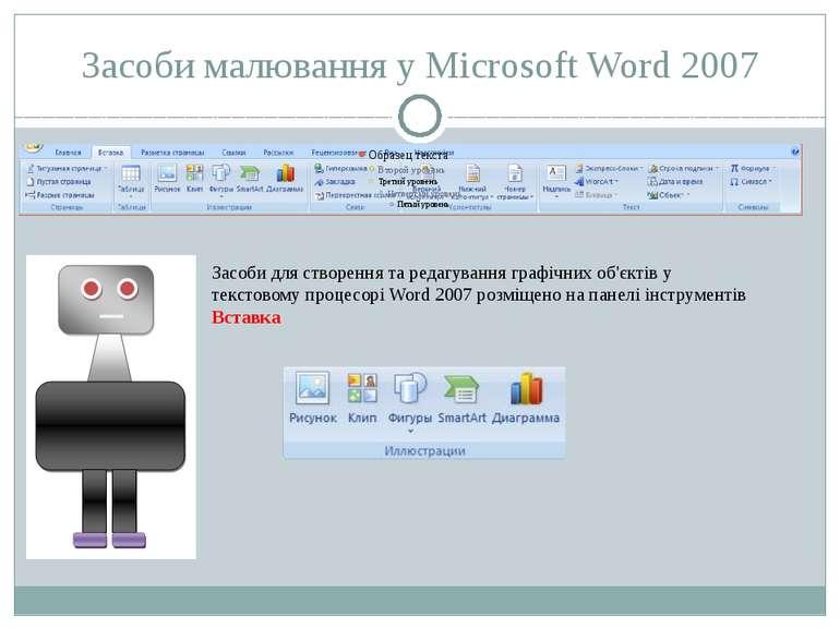 Засоби малювання у Microsoft Word 2007 Засоби для створення та редагування гр...